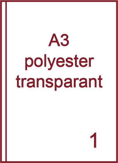 A3 Transparante etiketten