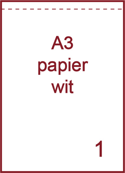 A3 Witte etiketten (papier)