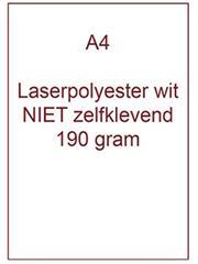 Laserpolyester mat wit NIET zelfklevend A4 190 gr ds 100 vel