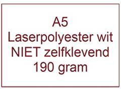 Laserpolyester mat wit NIET zelfklevend A5 190 gr ds 1200 vel