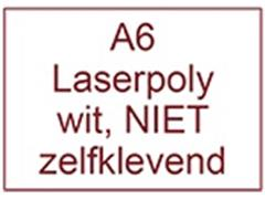 Laserpolyester mat wit NIET zelfklevend A6 140mu (190 gr) ds 2400vel