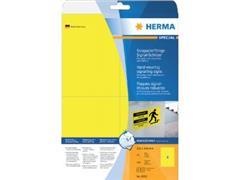 Etiket polyester geel 105x148 (44) ds25vel A4 8032