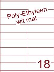 Etiket Poly-Ethyleen wit mat (18) 105x31,4 ds300vel A4 (PEHG 18-2)