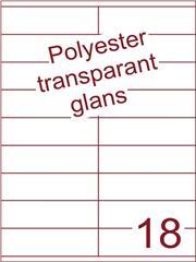 Etiket 105x31,4 (18) polyester Transparant glans ds100vel A4 (PO18-2)