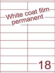 Etiket Whitecoat film wit mat 105x31,4 (18) dsds300vel A4 (WFHG 18-2)