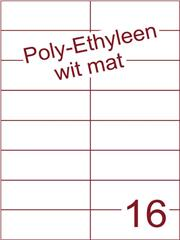 Etiket Poly-Ethyleen wit mat (16) 105x37,1 ds300vel A4 (PEH 16-3)
