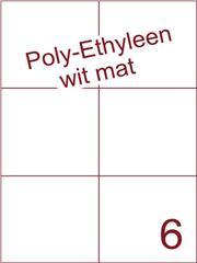 Etiket Poly-Ethyleen wit mat (6) 105x99 ds300vel A4 (PEH 6-2)