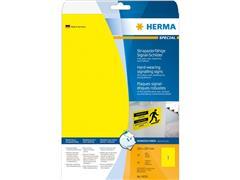 Etiket polyester geel 210x297 (44) ds25vel A4 8033