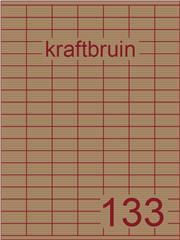 Etiket kraft bruin 30x15mm (133) ds100vel A4