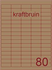 Etiket kraft bruin 35,6x16,9mm (80) ds100vel A4