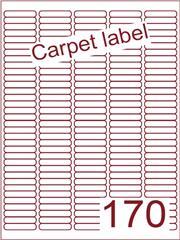 Etiket carpetlabel wit 38,1x8 (170) ds1000vel A4 (A170-5)