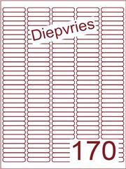 Etiket A4 diepvries belijming 38,1x8 (170) ds 500 vel (A170-5)
