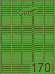 Etiket groen 38,1x8mm (170) ds200vel A4