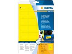 Etiket polyester geel 45,7x21,2 (44) ds25vel A4 8030