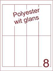 Etiket polyester wit glanzend 48x130 (8) ds100vel A4