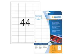 Etiket polyester wit mat AFNEEMBAAR 48,3x25,4 (1) ds20vel A4 4572