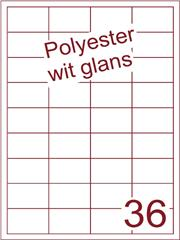 Etiket polyester wit glanzend 48,5x31,2 (36) ds100vel A4