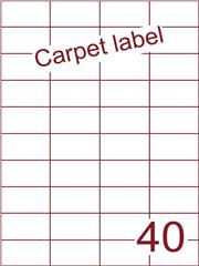 Etiket carpetlabel wit 52,5x29,7 (40) ds1000vel A4 (HG40-4)