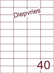 Etiket diepvries belijming 52,5x29,7 (40) ds500vel A4 (H40-4)