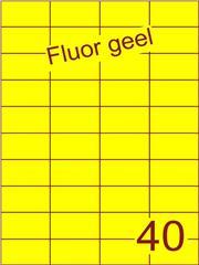 Etiket fluor geel 52,5x29,7mm (40) ds100vel A4