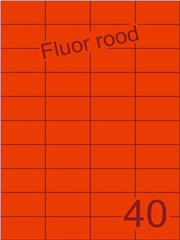 Etiket fluor rood 52,5x29,7mm (40) ds100vel A4
