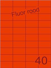 Etiket fluor rood 52,5x29,7mm (40) ds100vel A4