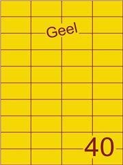 Etiket geel 52,5x29,7mm (40) ds100vel A4
