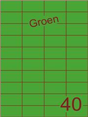 Etiket groen 52,5x29,7mm (40) ds100vel A4