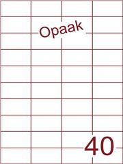 Etiket opaak wit 52,5x29,7 (40) ds200vel A4 (HG40-4)