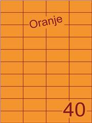 Etiket oranje 52,5x29,7mm (40) ds200vel A4