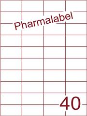 Etiket A4 Pharmalabel 52,5x29,7mm (40) ds1000vel A4 (H40-4)
