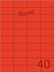 Etiket rood 52,5x29,7mm (40) ds100vel A4