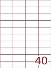 Etiket 52,5x29,7 (40) wit ds1000vel A4 (H40-4)