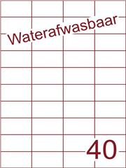 Etiket A4 waterafwasbaar 52,5x29,7 (40) ds 500vel (H40-4)