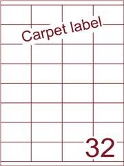 Etiket carpetlabel wit 52,5x35 (32) ds1000vel A4 (HG32-4)