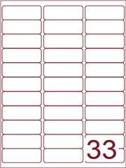 Etiket 65x25,4 (33) wit ds600vel A4