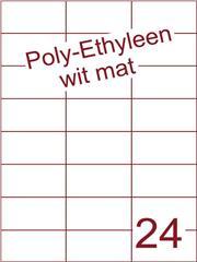 Etiket Poly-Ethyleen wit mat (24) 70x37,1 ds300vel A4 (PEH24-3H)