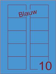 Etiket blauw Disklabels 70x52 (10) ds200vel A4