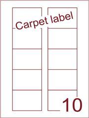 Etiket carpetlabel wit Disklabels 70x52 (10) ds1000vel A4