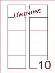Etiket A4 diepvries belijming Disklabels 70x52 (10) ds500vel