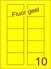 Etiket fluor geel Disklabels 70x52 (10) ds200vel A4