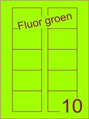 Etiket fluor groen Disklabels 70x52 (10) ds200vel A4