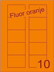 Etiket fluor oranje Disklabels 70x52 (10) ds200vel A4