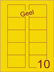 Etiket geel Disklabels 70x52 (10) ds200vel A4