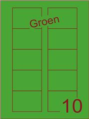 Etiket groen Disklabels 70x52 (10) ds200vel A4