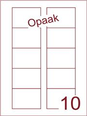 Etiket 70x52 (10) Disklabels opaak wit ds200vel A4