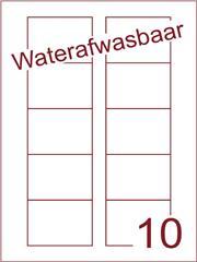 Etiket A4 waterafwasbaar Disklabels 70x52 (10) ds 500vel