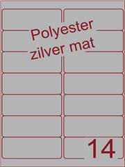 Etiket polyester aluminium zilver mat 99,1x38,1 (14) ds200vel A4 (POA14)