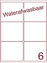 Etiket A4 waterafwasbaar 99,1x93,2 (6) ds 500vel (A6-2)
