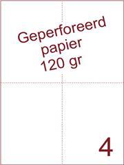 A4 Laser papier 120gr geperforeerd 210 x 74,25mm ds1700vel